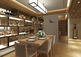Dining Room Cabinet Ideas Modern Dining Room With Wooden Wine Cabinet 3d House