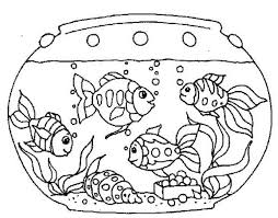 goldfish fish tank coloring netart