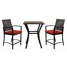 Lightweight Patio Chairs Garden Treasures Patio Furniture Hidden River 3pc Extruded