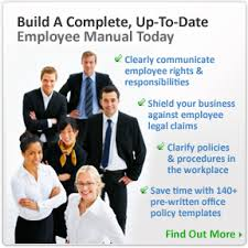 office policy manual employee handbook template office policy