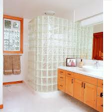 glass block showers pictures and photos