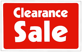 clearance sale retail store sale business discount promotion