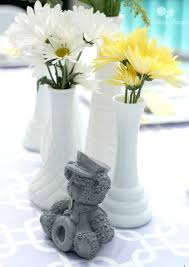Centerpieces For Baby Showers by Purple Yellow U0026 Gray Baby Shower Parties For Pennies
