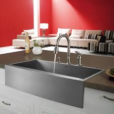 Vigo Stainless Steel Pull Out Kitchen Faucet Vigo Vg3320c Stainless Steel Farm Sink Installation Installed