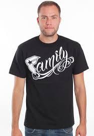 and straps family black white t shirt impericon
