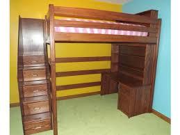 Loft Bed With Computer Desk L136 Custom Full Loft Bed The Bunk U0026 Loft Factory