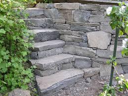 garden steps garden bed above the existing garden into a stoney