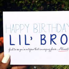 happy birthday little brother witty from fancifulfaron on etsy