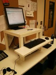 image of small ikea standing desk hack