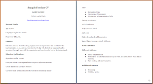 Resume Examples For University Students by 12 Curriculum Vitae Sample For College Students Joblettered