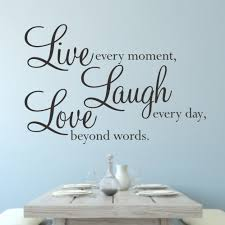Love Laugh Live Live Laugh Love Wall Quote Sticker Wa077x