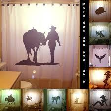 Western Style Shower Curtains Shower Curtain Western Theme Bathroom Decor