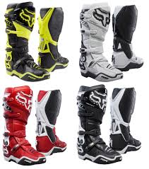 red dirt bike boots fox instinct motorcycle ebay