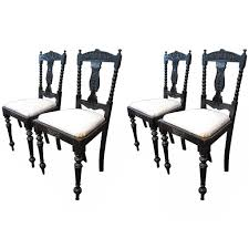 Indian Dining Chairs Ceylonese Wood Dining Chairs Anglo Indian At 1stdibs