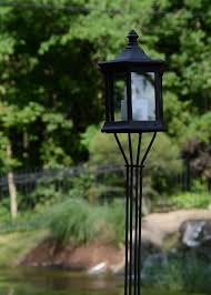 solar lantern clear glass garden torch