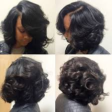 black hair 27 piece with sidebob stylist feature love this curlybob styled by