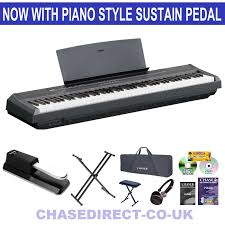 On Stage Keyboard Bench New Model Yamaha P115 Digital Stage Piano In Black Now With Piano