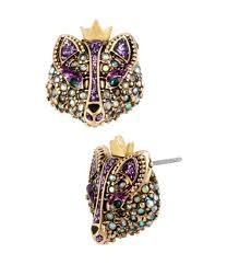 betsey johnson fox stud earrings dillards