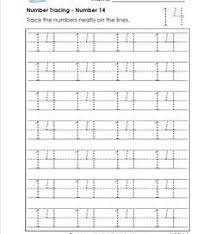 number tracing 0 20 kindergarten number worksheets