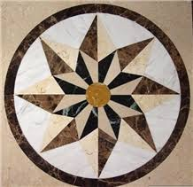 cheap decorative marble medallion floor tiles from china