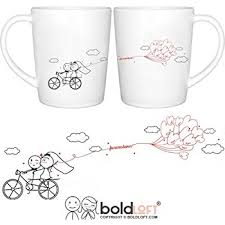 wedding gift mugs boldloft happily after his hers wedding coffee