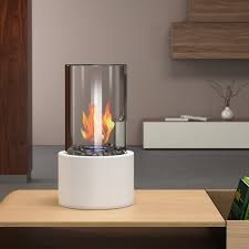 Portable Gas Fireplace by Eden Ventless Tabletop Portable Bio Ethanol Fireplace In White