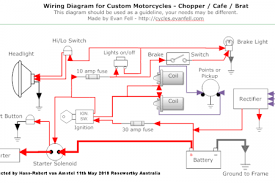 motorcycle wiring diagrams honda 750 chopper wiring diagram