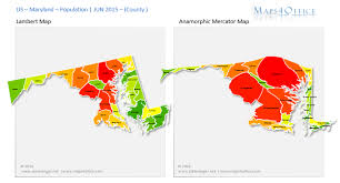 maryland mapa us maryland map county population density maps4office