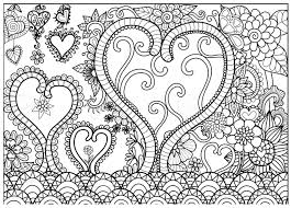 abstract line art design of heart forest for coloring book pages