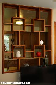decor interior design with room divider half wall and pendant