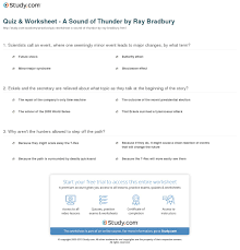 quiz u0026 worksheet a sound of thunder by ray bradbury study com
