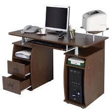 bureau pc meuble table de bureau pour ordinateur pc avec tablette imprimante con