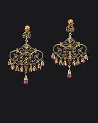 Designer Chandelier Earrings Designer Ruby Diamonds Chandelier Earrings Sivalya Jewelry