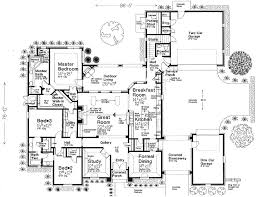 5 bedroom house plans 1 story house plans with porte cochere