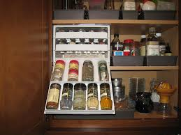 alluring spice racks for cabinets with white 18 bottle spice stack