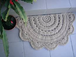 Half Circle Kitchen Rugs Doormat Half Circle Crochet Jute Door Rug Kitchen Rug