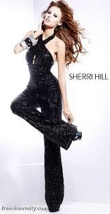 black sequin jumpsuit sherri hill 8450 black sequin jumpsuit novelty