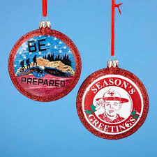 buy pack of 6 glass boy scout logo ornaments 2 5 in