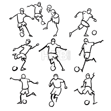 football or soccer playermotion sketch studies