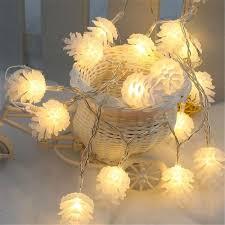 philips pine cone string lights kcasa 2m 20 led pine cone string lights led fairy lights for