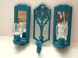 Wall Candle Sconce 53 Teal Candle Sconces Wall Candle Holder Wall Sconces Wall