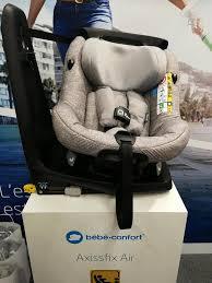 siege auto sans ceinture les nouveaux siège auto bébé confort le axissfix air premier
