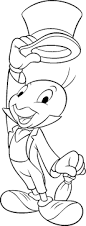 disney coloring pages pinocchio jiminy cricket coloring pages