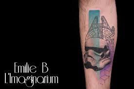 star war stormtrooper head tattoo design for sleeve