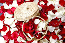 Flower Home Decoration Red And White Flowers Petals Decoration Rose Petals In Small