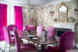 House Beautiful Dining Rooms A Long Island Home With Lots Of Color Colorful Home Ideas