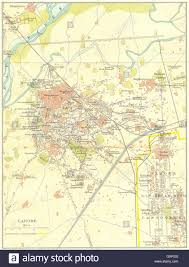 Old Map Of Mexico by Pakistan Lahore City Plan Showing The Old Meean Meer Cantonment