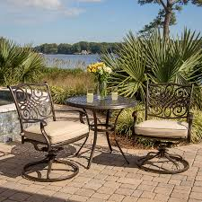 Outdoor Furniture 3 Piece by Shop Hanover Outdoor Furniture Traditions 3 Piece Bronze Aluminum
