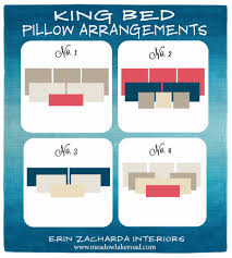 How Big Is A King Size Bed Blanket Bed Pillow Arrangement Ideas Pillow Arrangement King Beds And