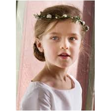 floral headdress girl white floral headdress eglantine